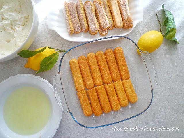 Deser włoski tiramisu cytrynowe