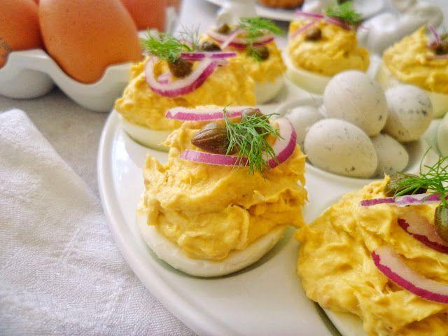 Faszerowane jajka wielkanocne