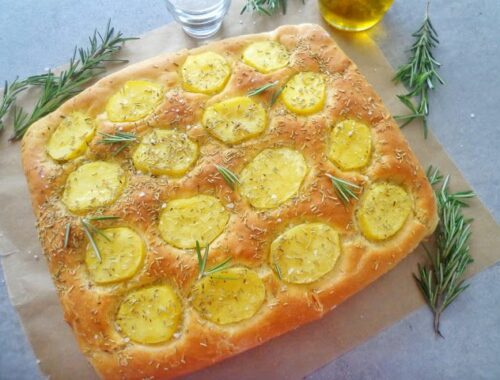 Focaccia z ziemniakami i rozmarynem