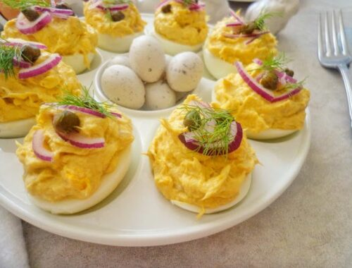 Jajka faszerowane pastą z makreli