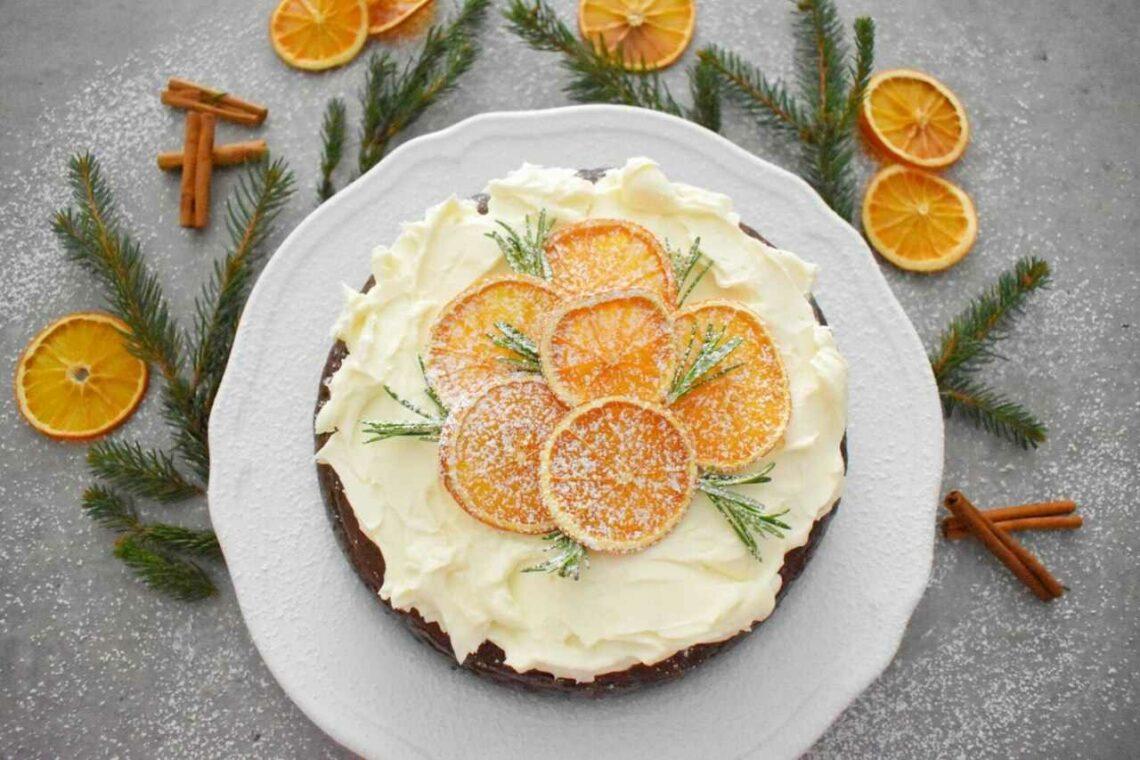 Sernik czekoladowy z pomarańczą