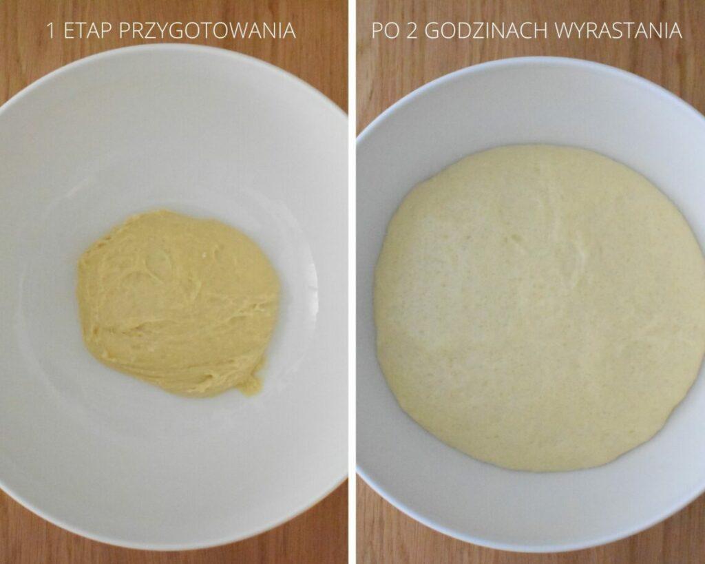 Etap 1 przygotowania pandoro