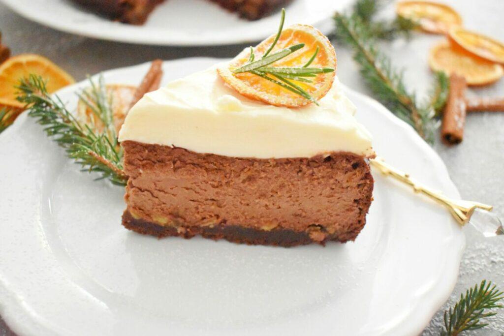 Sernik z pomarańczą i czekolada