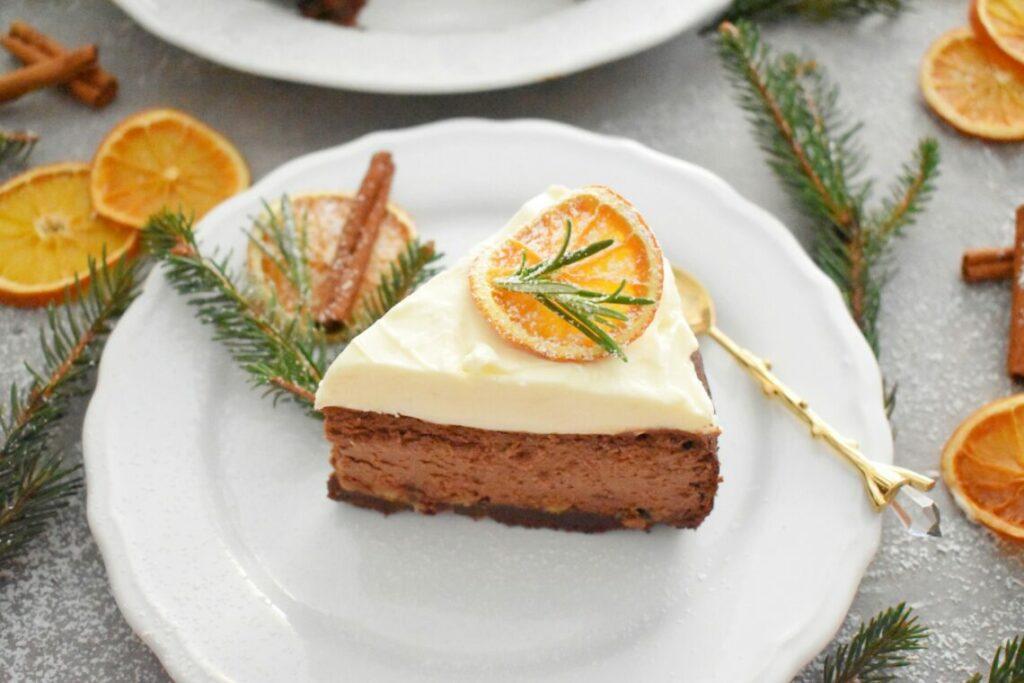 Sernik czekoladowo-pomarańczowy