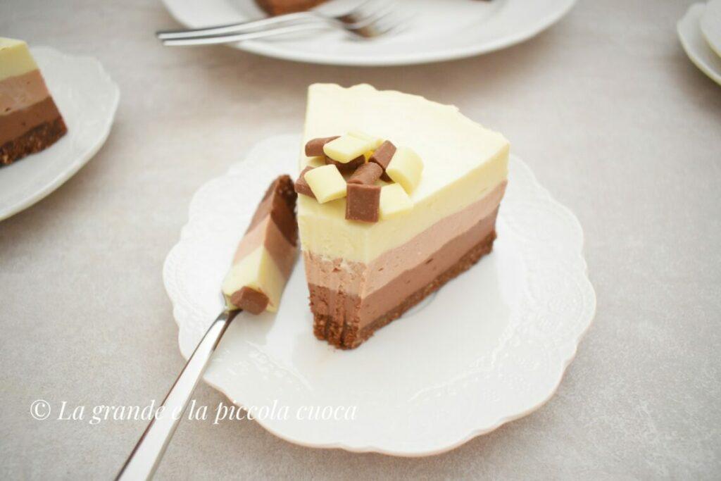Potrójnie czekoladowy cheesecake bez pieczenia