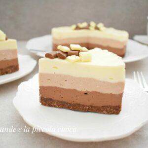 Potrójnie czekoladowy cheesecake