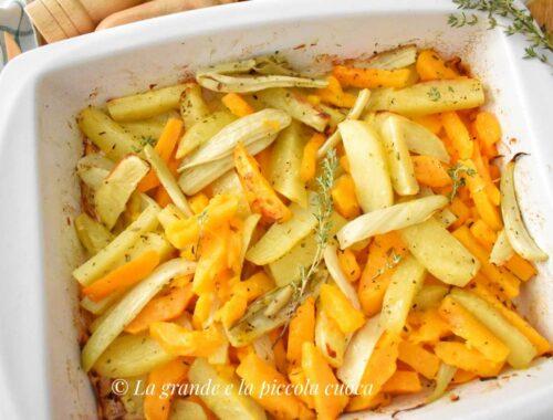 Pieczone warzywa w ziołowej oliwie