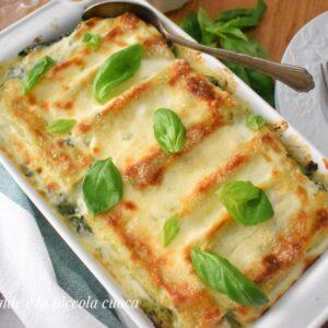 Cannelloni z ricottą, pesto i szpinakiem