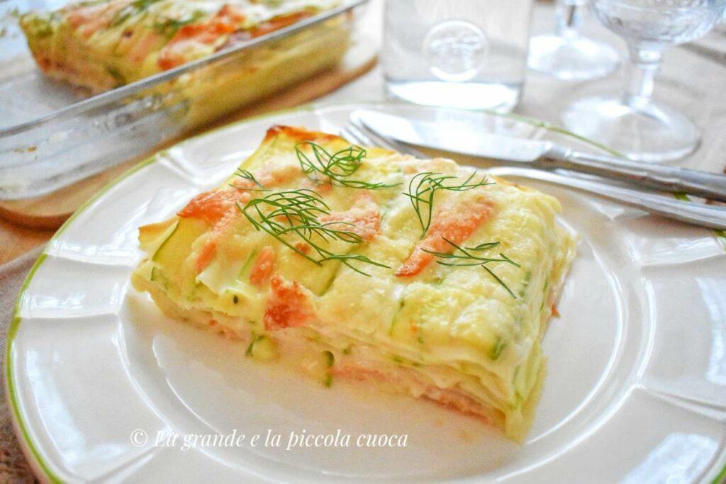 Lasagne z wędzonym łososiem