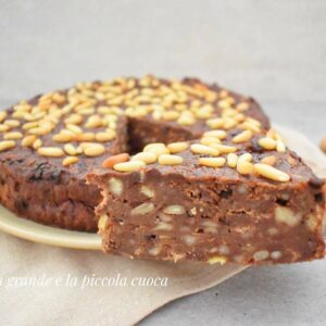 Włoskie czekoladowe ciasto z chleba