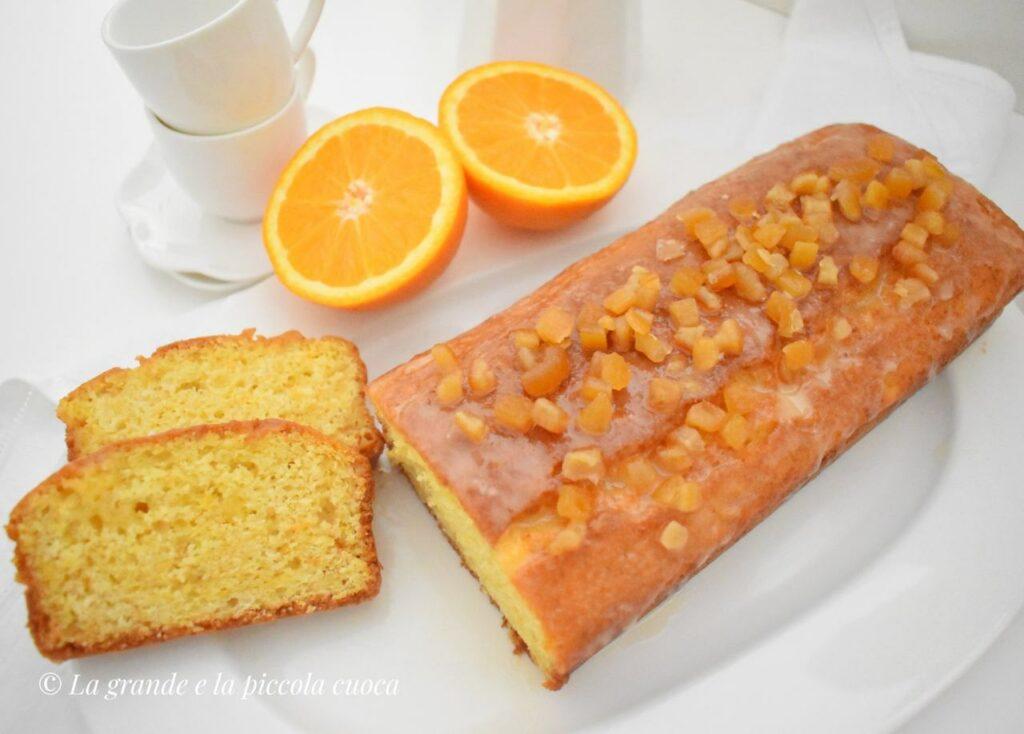 Ucierane ciasto z pomarańczami