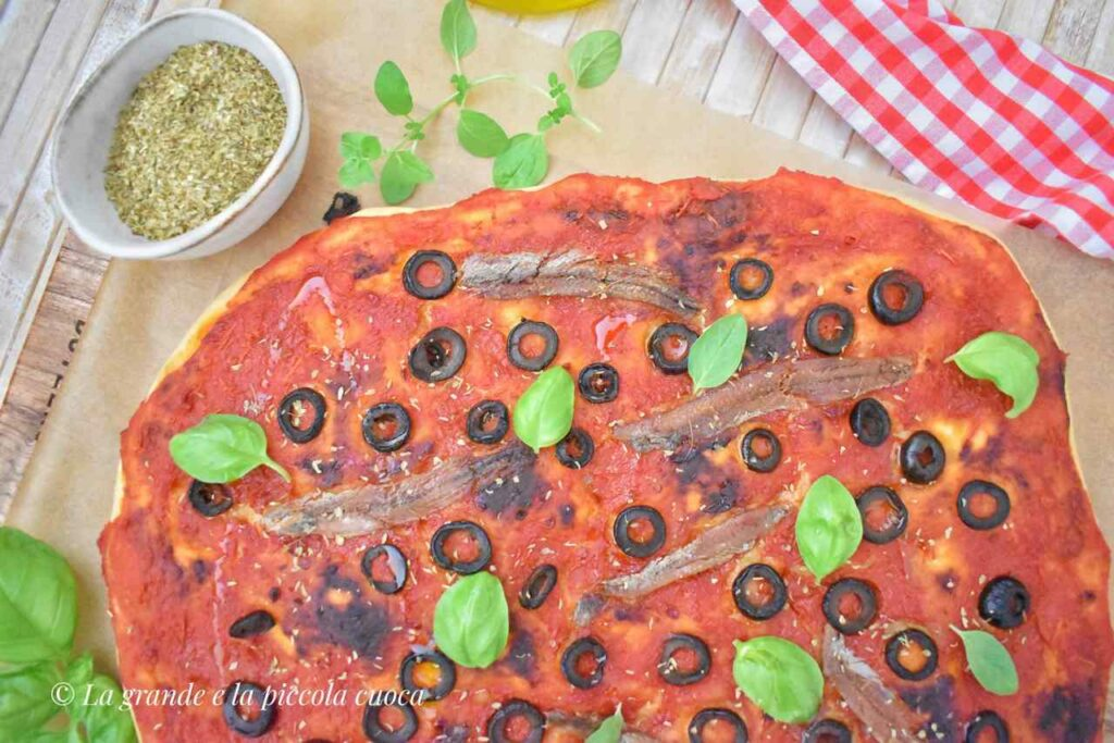 Focaccia z oliwkami i anchois