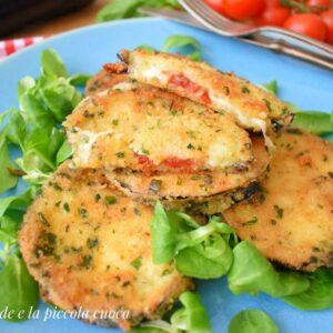 Kotleciki z bakłażana z mozzarellą i suszonymi pomidorami