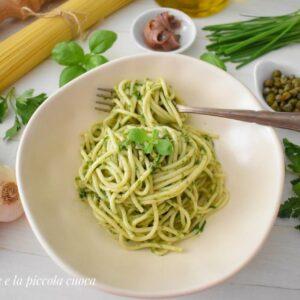 Makaron z salsa verde