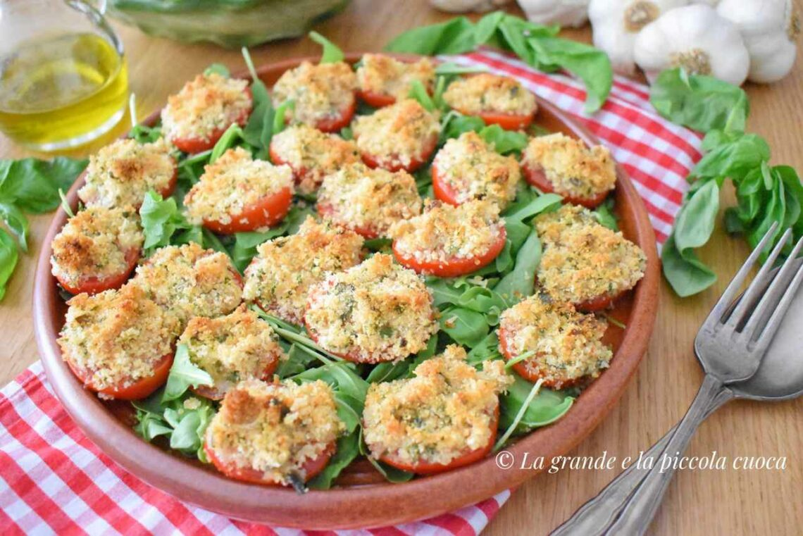 Zapiekane pomidory pod ziołową panierką