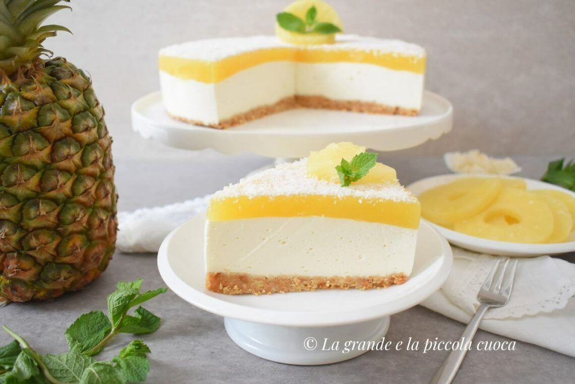 Kokosowo-ananasowy sernik na zimno