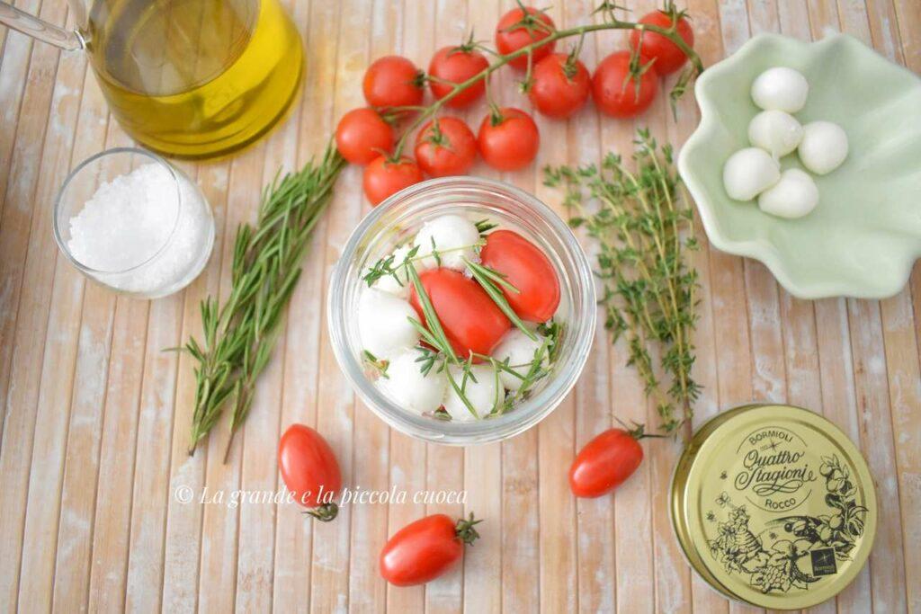 Przepis na marynowana mozzarelle