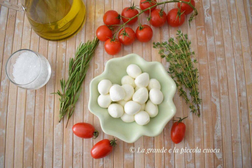 Przepis na mozzarelle marynowana