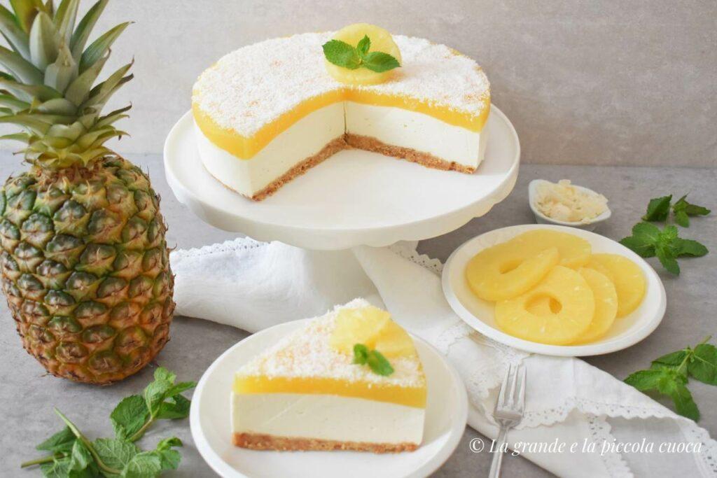 Przepis na kokosowy sernik z ananasem