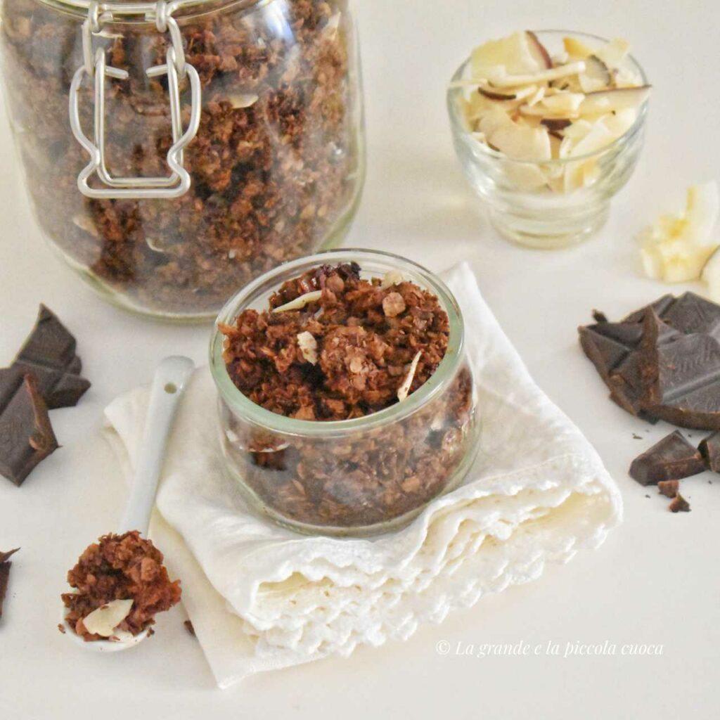 Kokosowa granola z czekolada