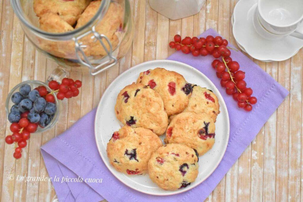 Przepis na ciastka z owocami leśnymi